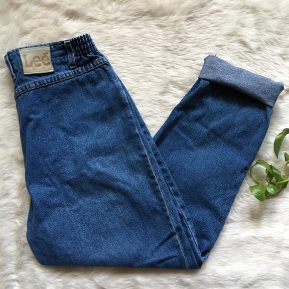 50a392df Lee Jeans   Vintage Bareback Elastic Waist Mom   Poshmark